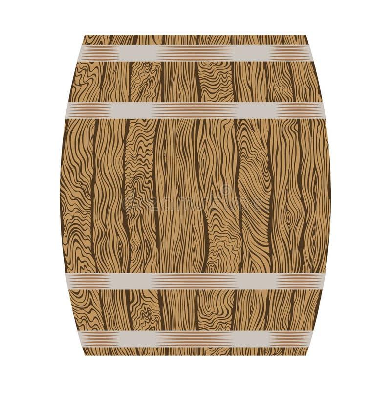 Drewniana wino baryłka ilustracji
