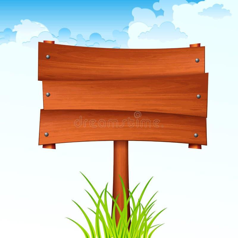 Drewniana znak deska na kiju r?wnie? zwr?ci? corel ilustracji wektora ilustracji