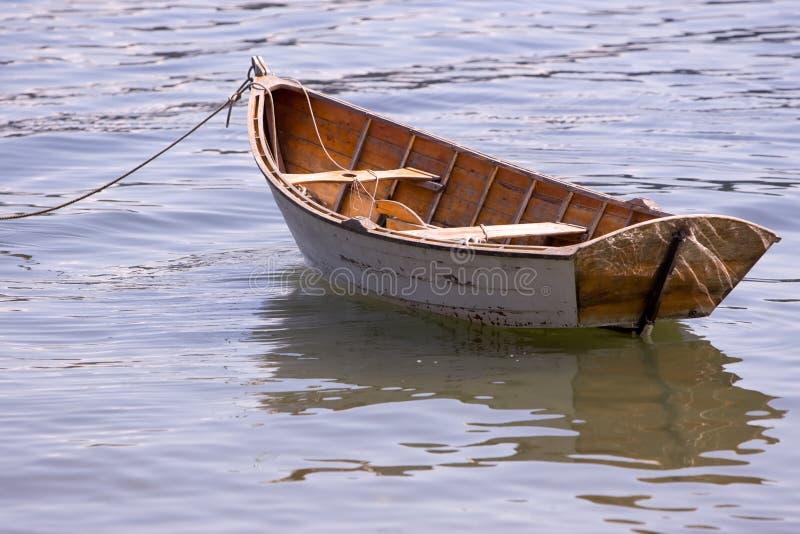 drewniane łódki rząd fotografia stock