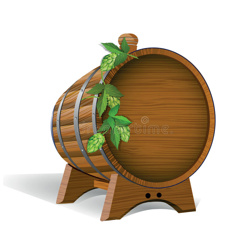 drewniane barrel ilustracja ilustracji