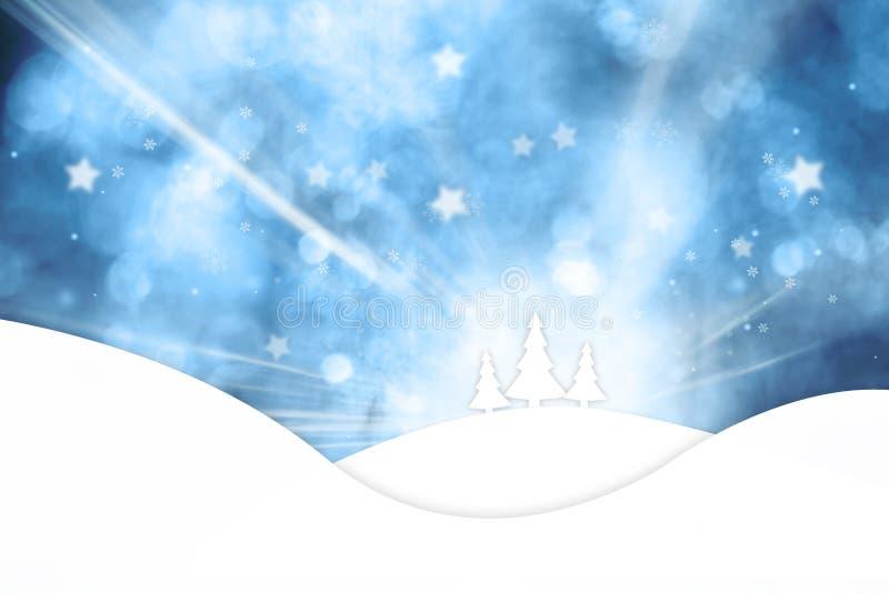 Drewniane deski z płatka śniegu tłem royalty ilustracja