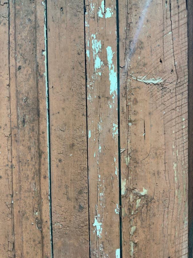 Drewniane deski z starą farbą turkusowy kolor fotografia stock