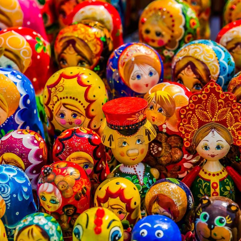 drewniane kolorowe zabawki obraz stock