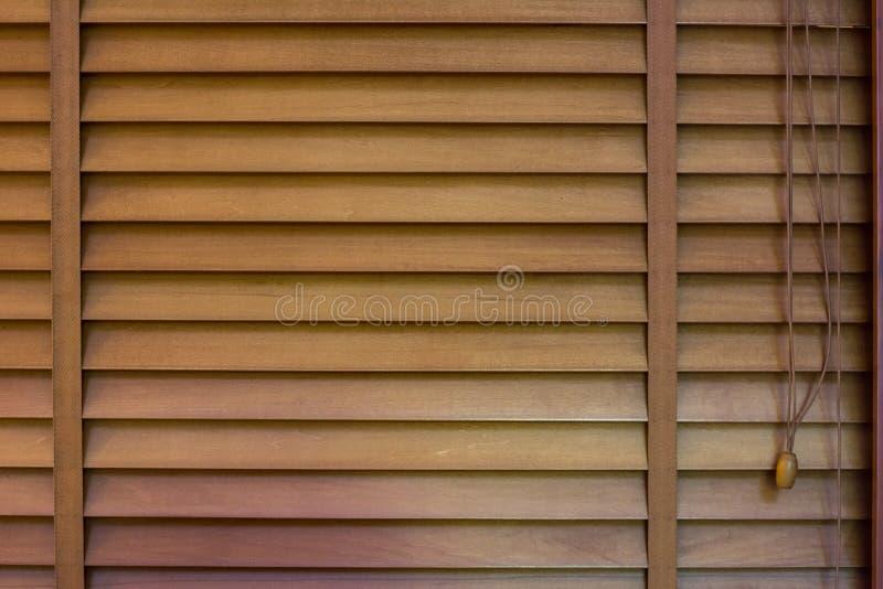 Drewniane Nadokienne żaluzje, tekstura jalousie zdjęcia royalty free