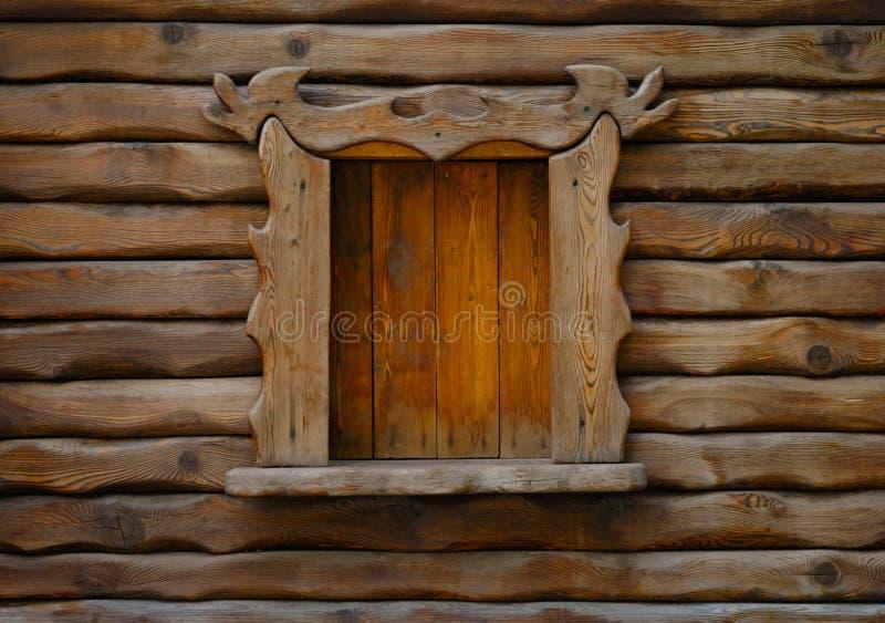 drewniane okna obrazy royalty free