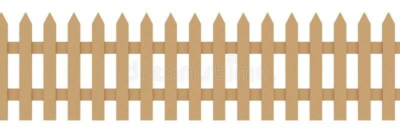 drewniane płotu royalty ilustracja