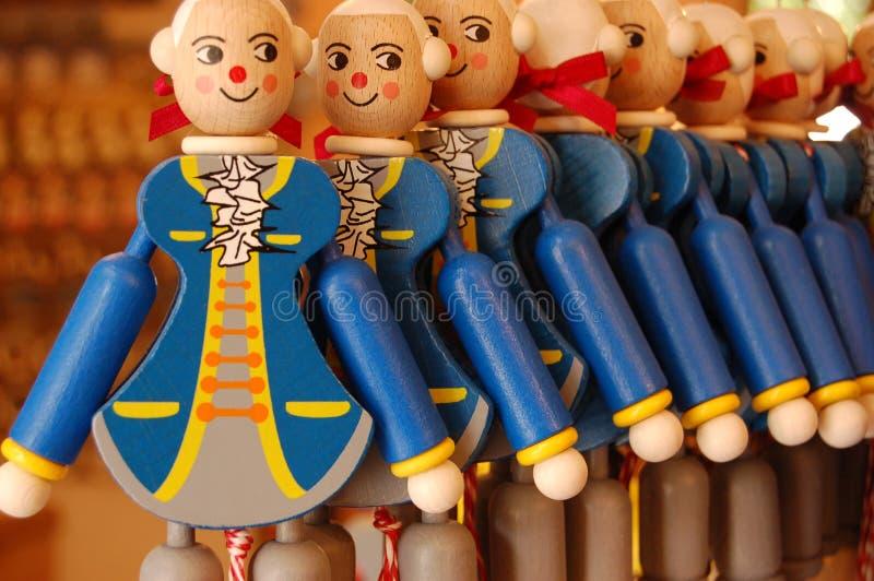 drewniane pamiątkarskie Mozart zabawki zdjęcia stock