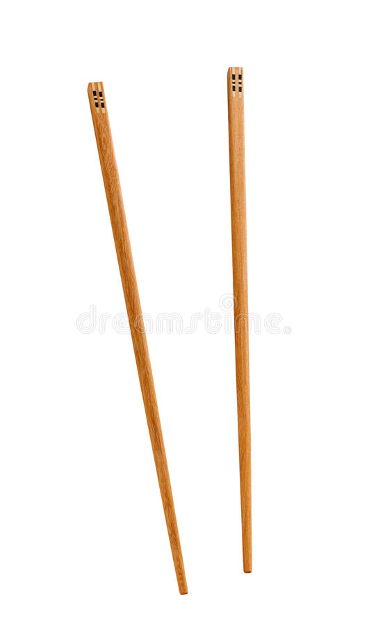 Drewniane pary chopsticks zdjęcia royalty free