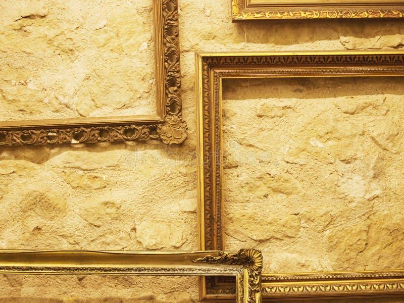 Drewniane ramy dla obrazów fotografia royalty free