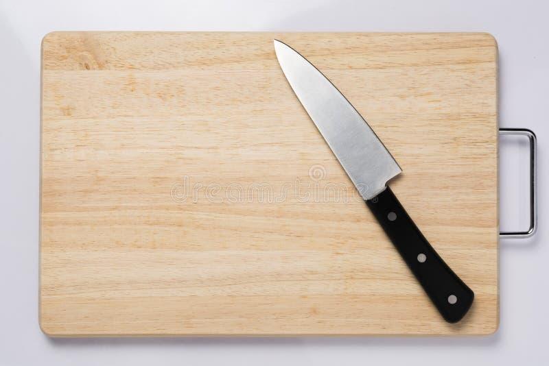 Drewniane tnące deski i noże obraz royalty free