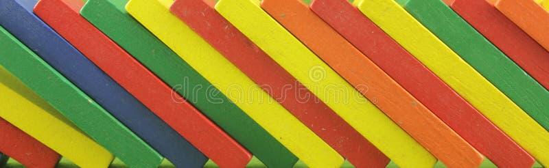 Drewniane zabawki lub zabawka bloki obrazy stock