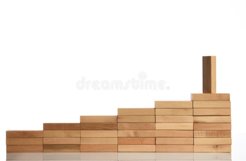 Drewnianego bloku sztaplowanie jako kroka schodek fotografia royalty free