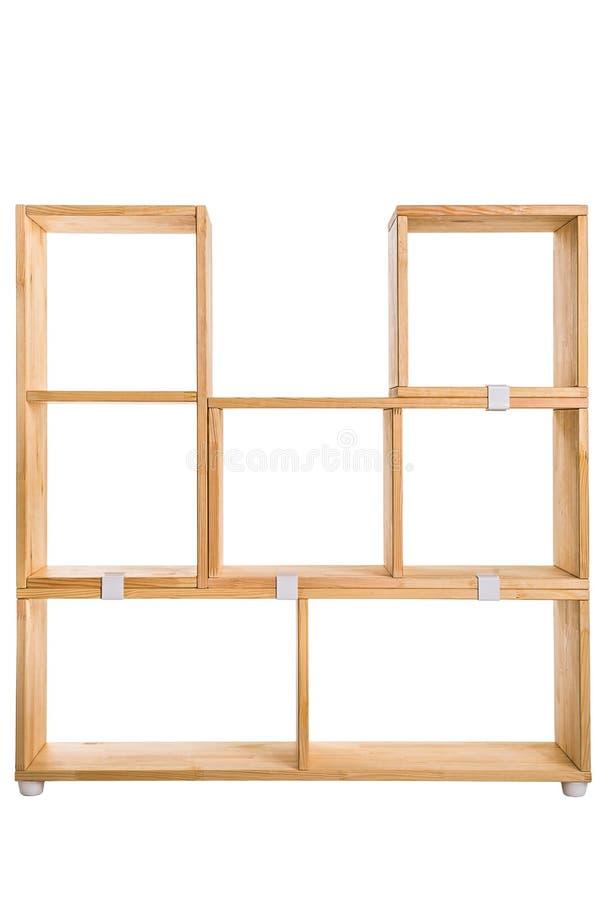 Drewnianego pudełka lub półka na książki tło zdjęcie stock