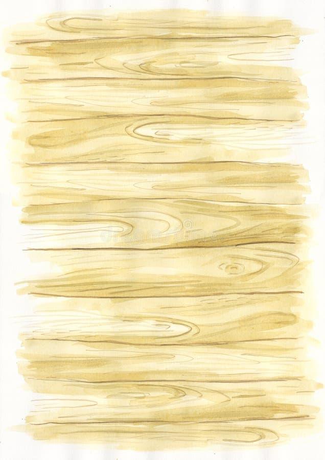 Drewnianego tła Pociągany ręcznie ilustracja royalty ilustracja