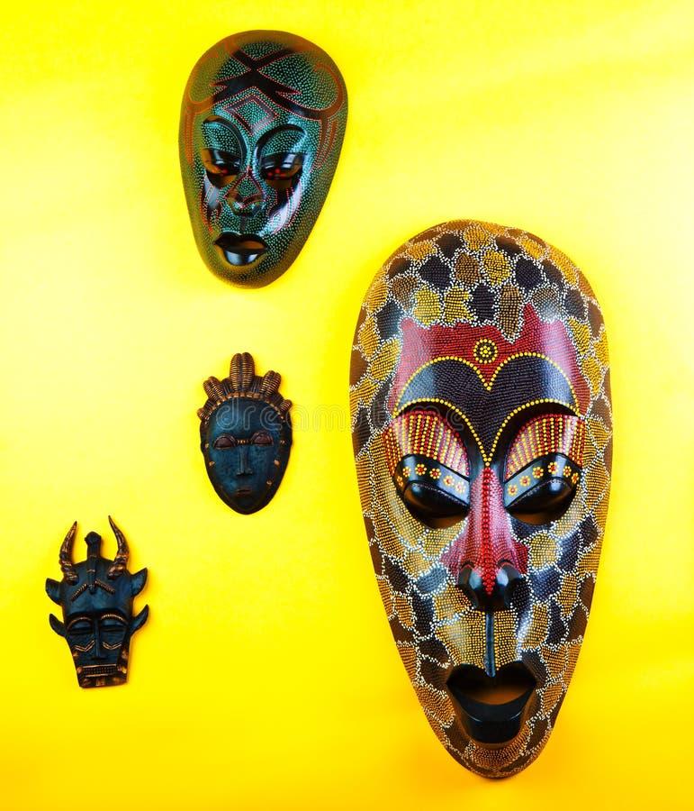 Drewnianej azjata maski ilości Pracowniany światło obrazy royalty free