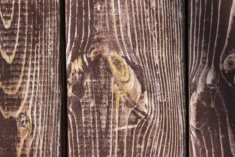 Drewnianej brown tło tekstury stary zakłopotany drewno zdjęcie stock
