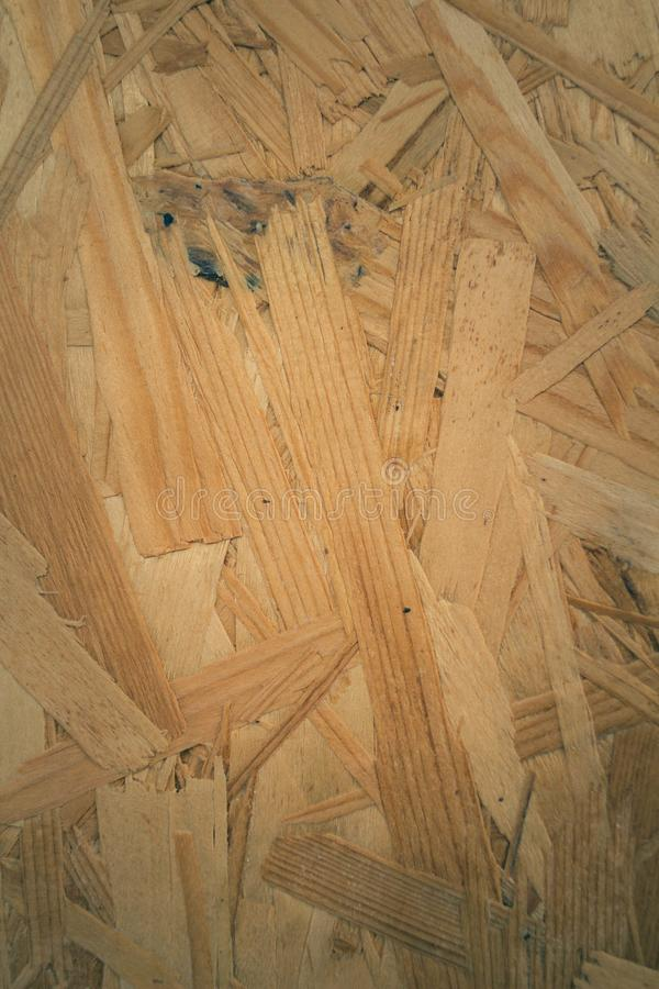 Drewnianej deski naciskający kawałki tekstura fotografia stock