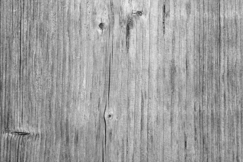 Drewnianej deski tekstura w czarny i biały zdjęcia stock