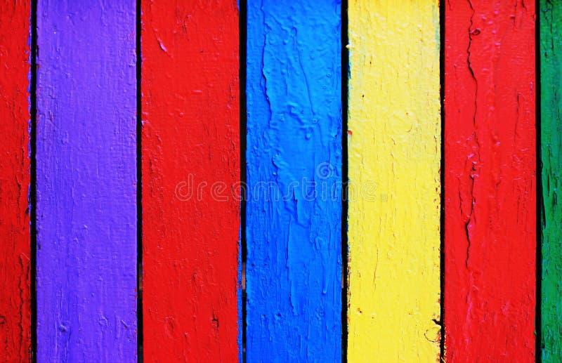 Drewnianej deski tekstury kolorowy tło fotografia stock