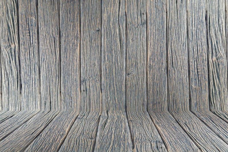 Drewnianej izbowej tło rocznika tekstury tapetowej ściany projekta podłogowy drewniany ciemny brąz zdjęcie royalty free