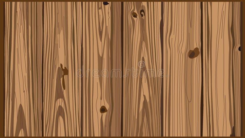 Drewnianej jasnobrązowej tekstury splat tła ściany jaskrawe pionowo deski wsiadają royalty ilustracja