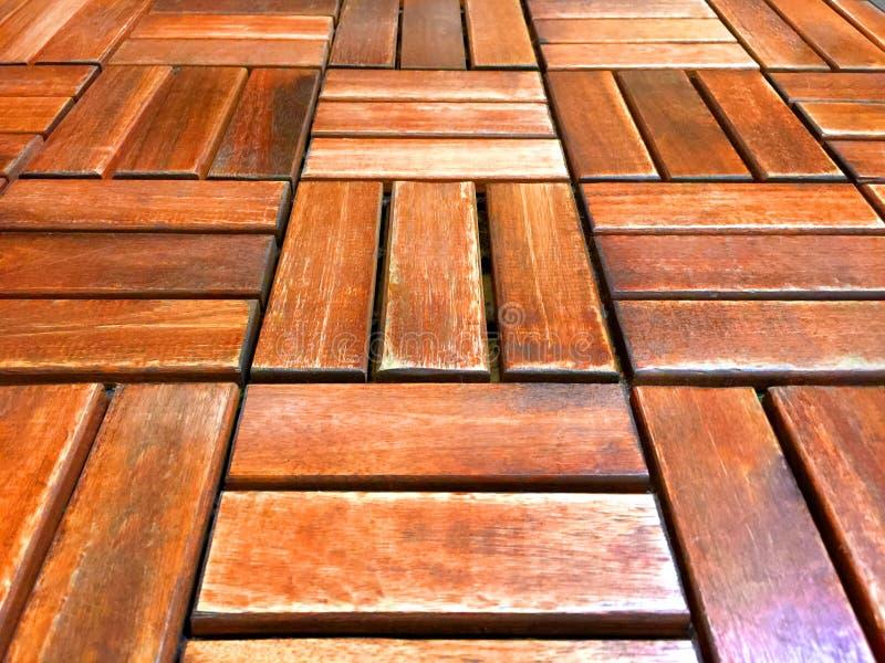 Drewnianej listwy Kafelkowa podłoga obraz royalty free