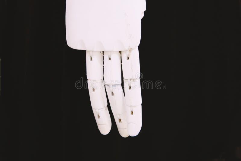 Drewnianej ręki żeński mannequin w górę fotografia stock