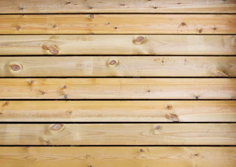 Drewnianej sosnowej deski brązu tekstury bez leczenia tło zdjęcia royalty free