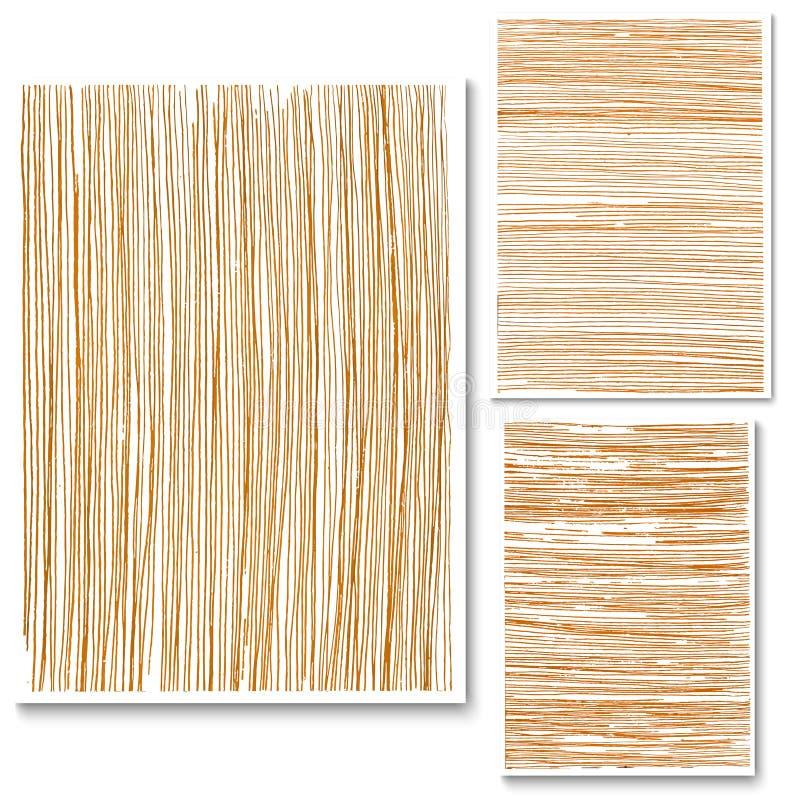 Drewnianej tło tekstury Nowożytna Wektorowa ilustracja Drewno Wykłada P ilustracja wektor