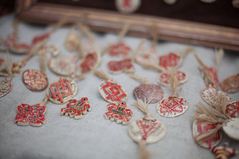 Drewniani amulety zdjęcie stock