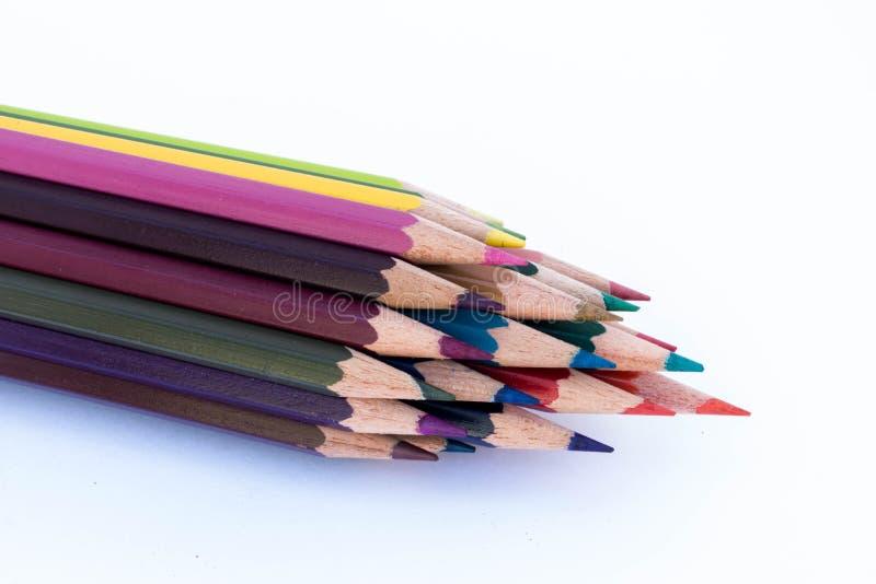 Drewniani Barwioni ołówki ilustracji