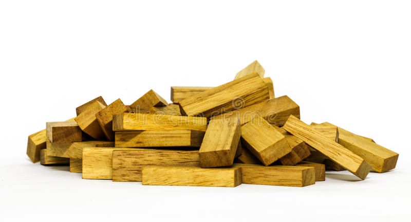 Drewniani bloków kształty na białym tle fotografia royalty free