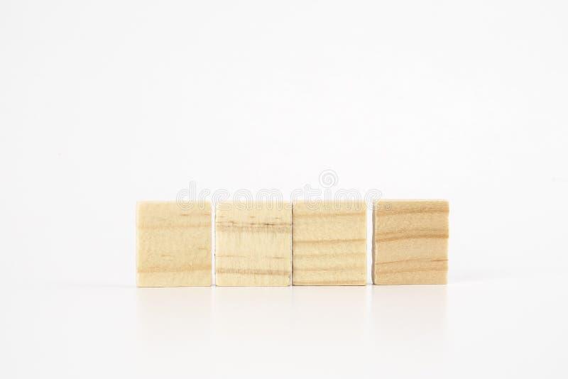 Drewniani bloki odizolowywający na bielu fotografia stock