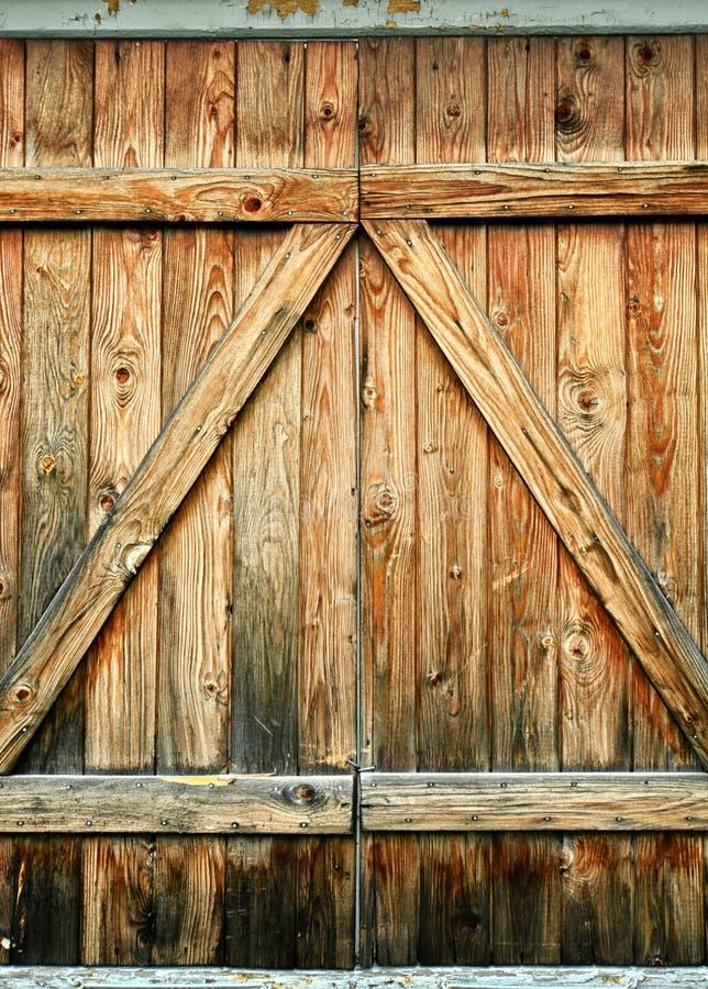 Drewniani drzwi obrazy stock