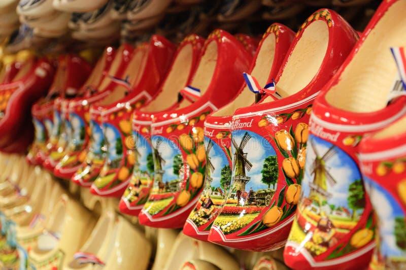 drewniani holenderscy buty obraz stock