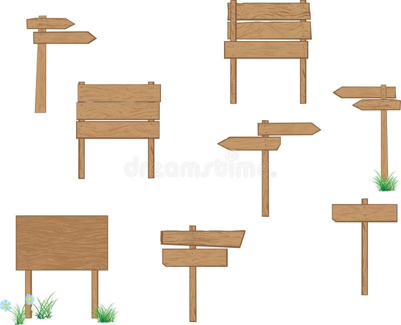 drewniani kierunkowskazy fotografia stock