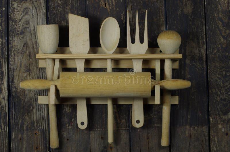 Download Drewniani Kuchenni Akcesoria Zdjęcie Stock - Obraz złożonej z rozwidlenie, jeden: 28960140
