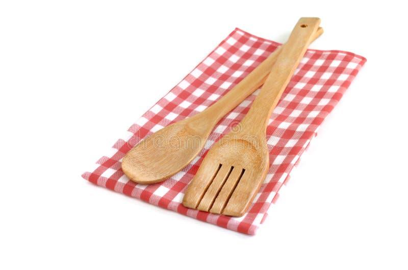 Drewniani kulinarni naczynia fotografia royalty free