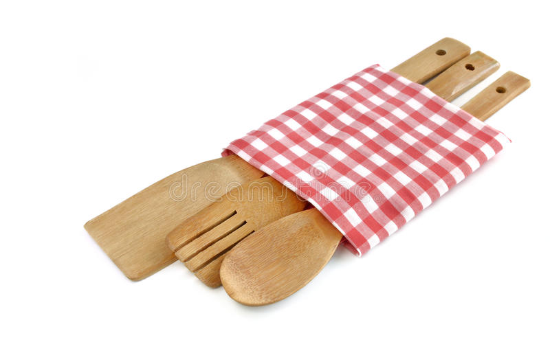 Drewniani kulinarni naczynia obraz royalty free