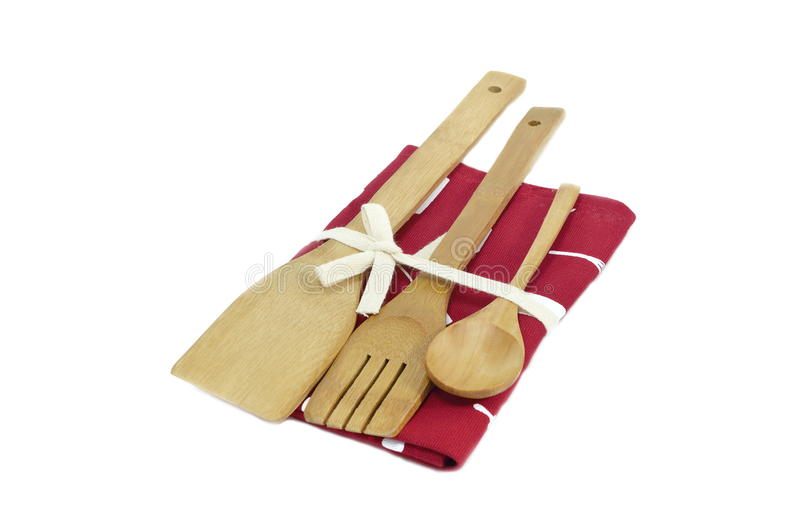 Drewniani kulinarni naczynia zdjęcia stock