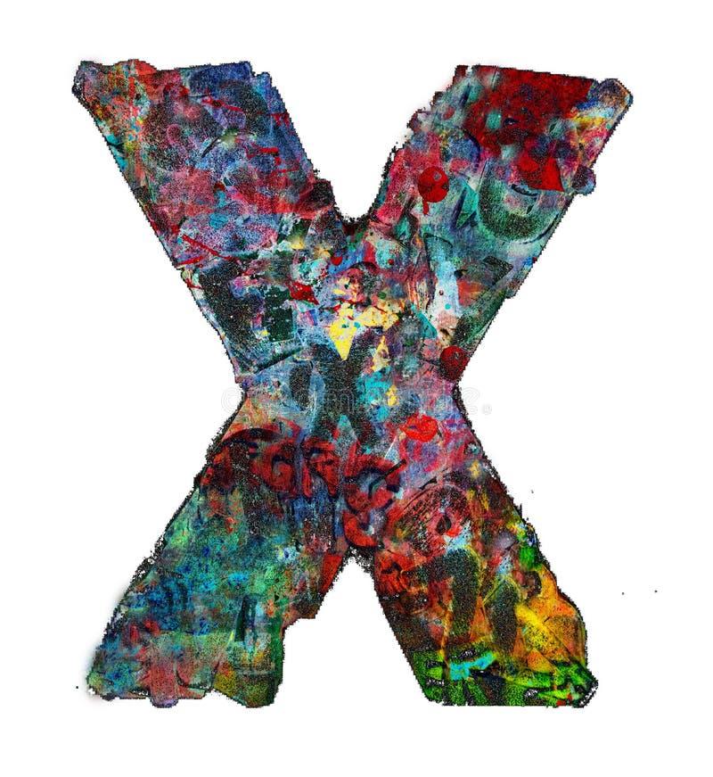 Drewniani listy, X zdjęcie royalty free