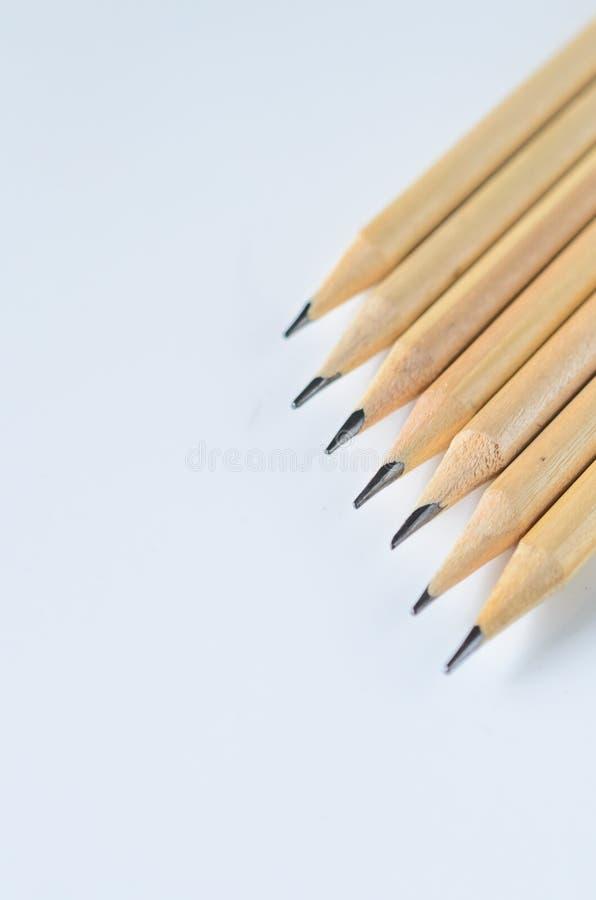 Drewniani ołówki dla kreślić zbliżenie i rysować zdjęcie royalty free