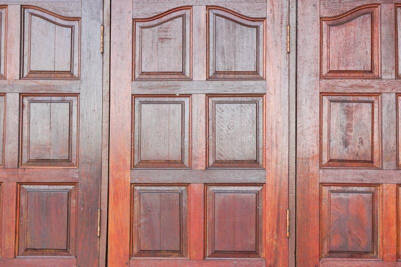 Drewniani okno w rocznika stylu fotografia stock