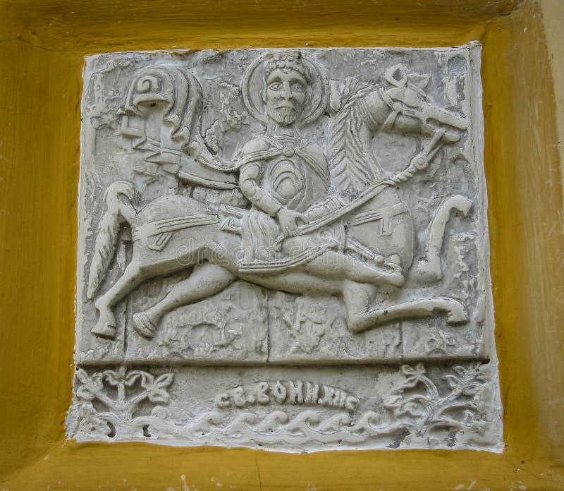 Drewniani rzeźbiący architektoniczni szczegóły w Suzdal, Vladimir region, fotografia royalty free