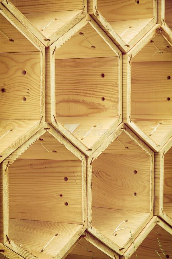 Drewniani sześciokąty obrazy stock