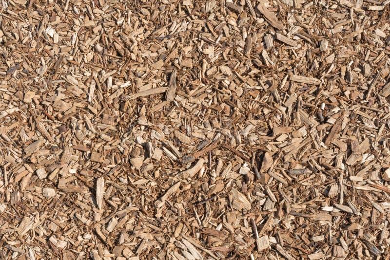 Drewniani układy scaleni, trociny jako naturalny tło obrazy stock