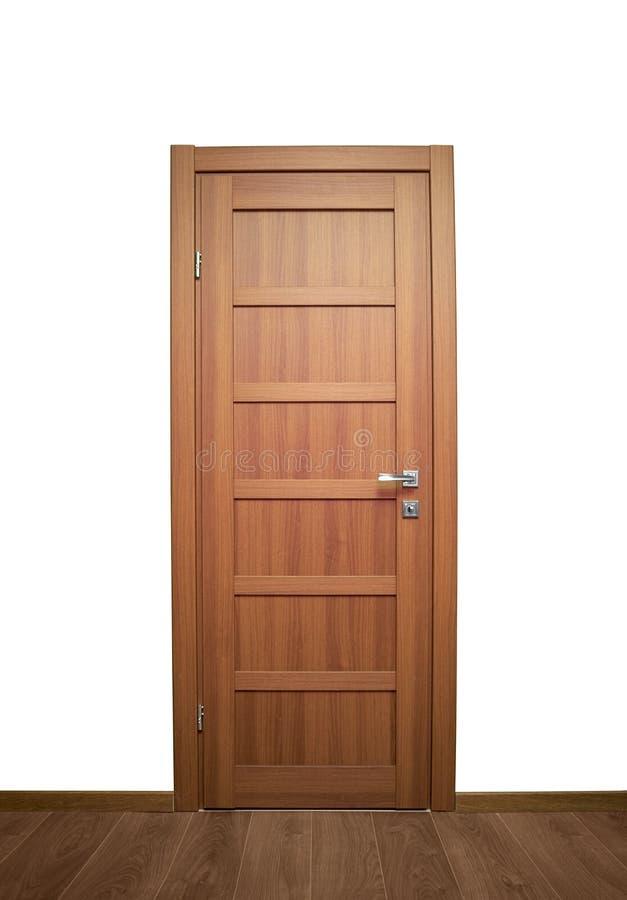 Drewniani wewnętrzni drzwi obraz stock