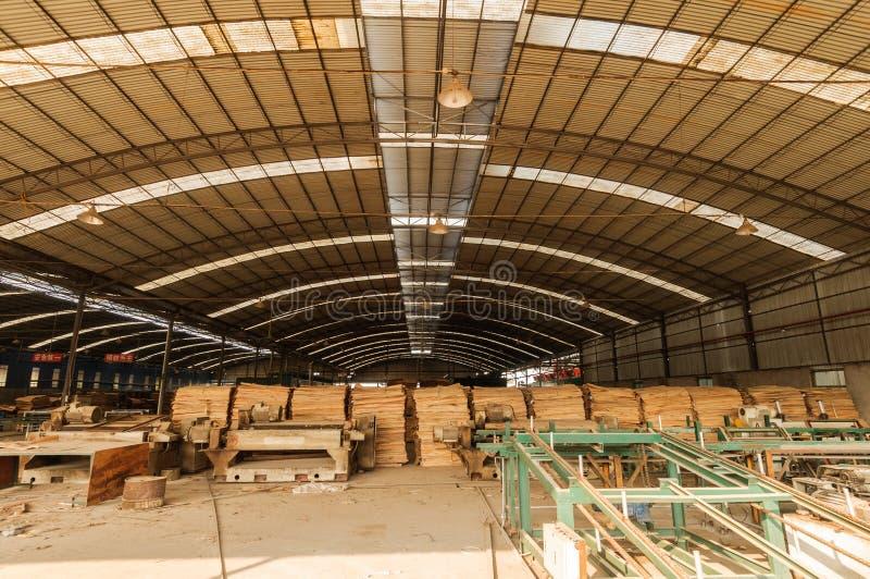 Drewniani zakłady przetwórczy zdjęcia stock