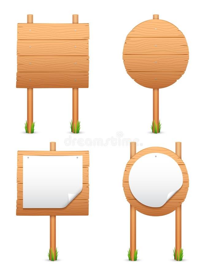 Drewniani znaki. royalty ilustracja
