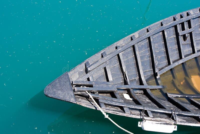 Drewniany łódkowaty tonięcie zdjęcia royalty free